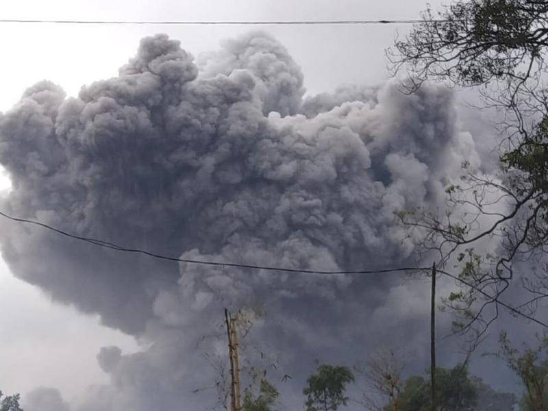 Indonesia's Mount Semeru has erupted, spewing ash and volcanic material into the air.
