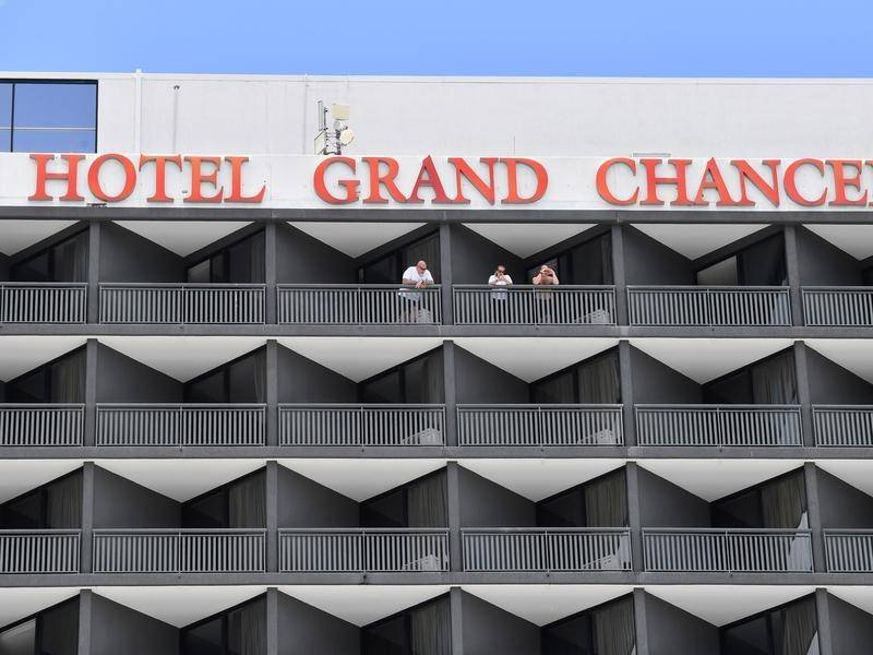 Some guests who transferred from Brisbane's Hotel Grand Chancellor are almost finished quarantine.